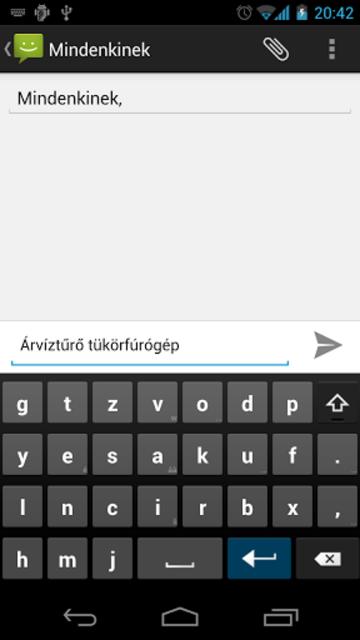 Magyar AnySoftKeyboard screenshot 7