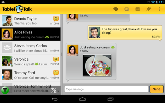 Tablet Talk: SMS & Texting App screenshot 2