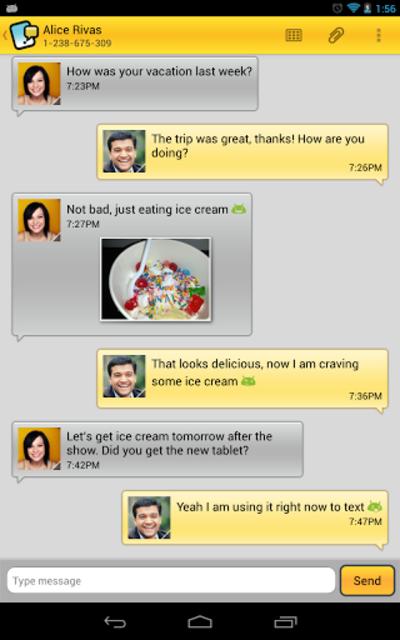 Tablet Talk: SMS & Texting App screenshot 3
