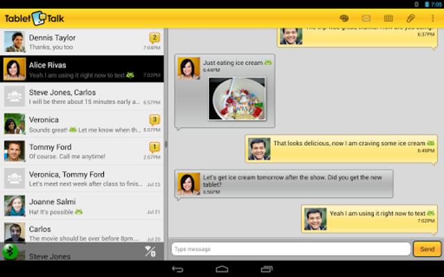 Tablet Talk: SMS & Texting App screenshot 9