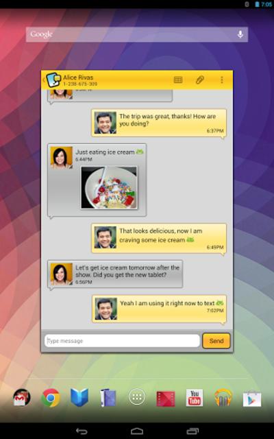 Tablet Talk: SMS & Texting App screenshot 10