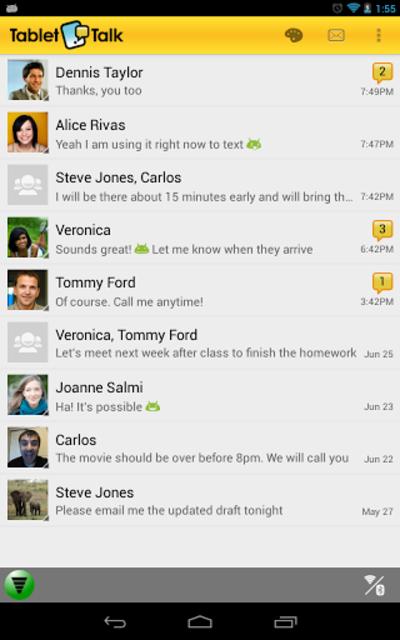 Tablet Talk: SMS & Texting App screenshot 17