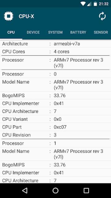 CPU-X screenshot 2