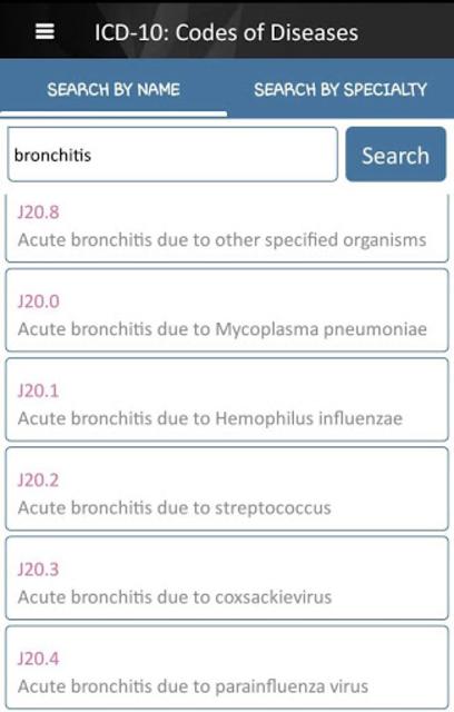 ICD-10: Codes of Diseases screenshot 2