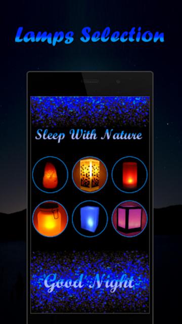Musical Night Light : lamps, candles, fireplace screenshot 1