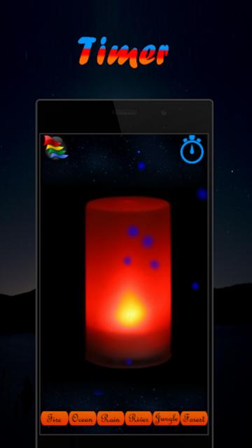 Musical Night Light : lamps, candles, fireplace screenshot 7