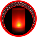 Icon for Musical Night Light : lamps, candles, fireplace