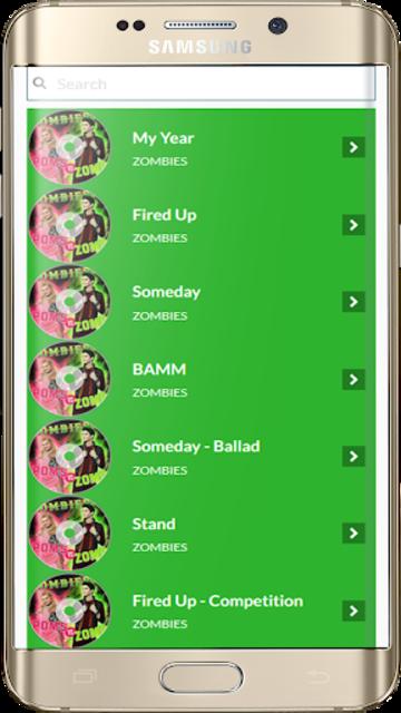 Zombies Songs Soundtrack and Lyric Offline screenshot 1
