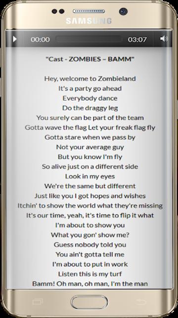 Zombies Songs Soundtrack and Lyric Offline screenshot 3