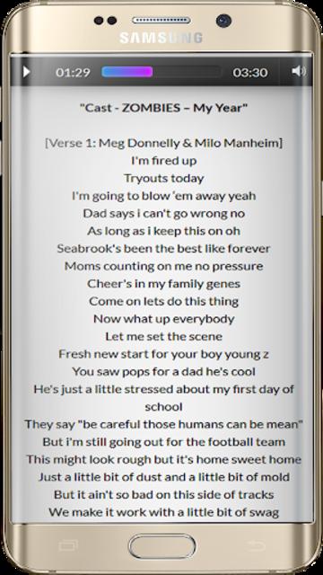 Zombies Songs Soundtrack and Lyric Offline screenshot 4