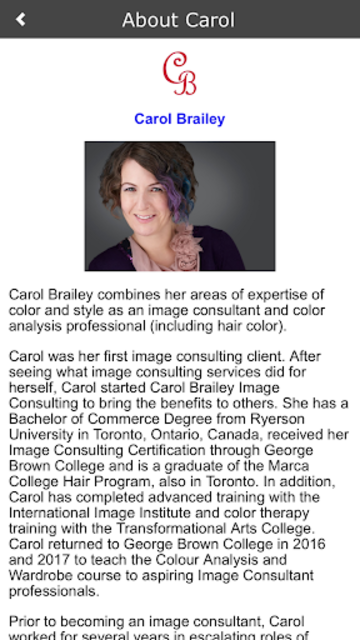 Shopping My Colors By Carol Brailey screenshot 3