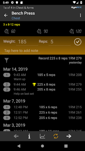 GymACE Pro: Workout Tracker & Body Log screenshot 4