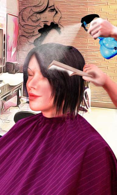 Girls Haircut, Hair Salon & Hairstyle Games 3D screenshot 1