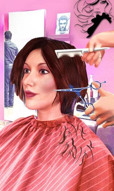 Girls Haircut, Hair Salon & Hairstyle Games 3D screenshot 2