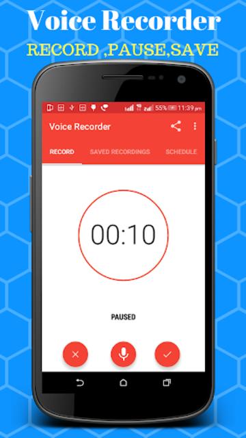 Voice Recorder - Scheduled Timer Audio Recorder screenshot 1