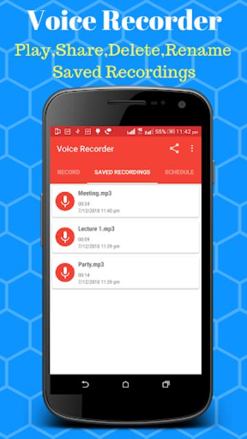 Voice Recorder - Scheduled Timer Audio Recorder screenshot 2