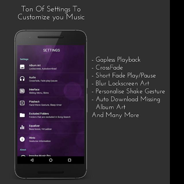 Impulse Music Player Pro screenshot 3