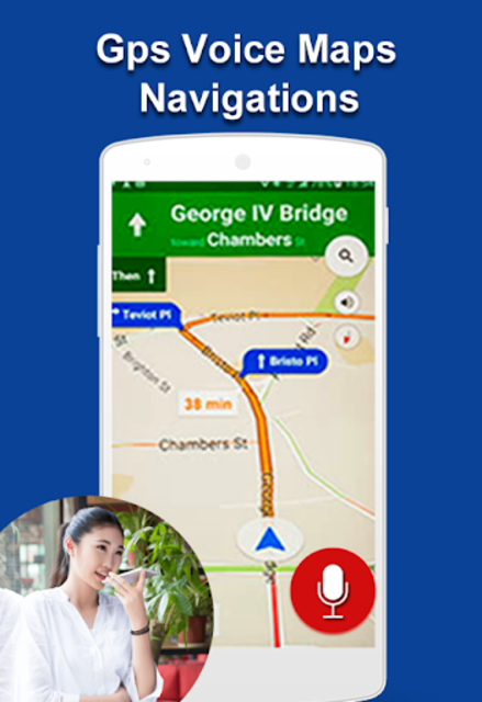 GPS Voice Navigation Maps & Drive Route Direction screenshot 2