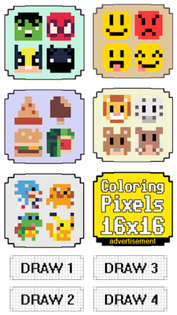 Coloring Pixels 8x8 screenshot 1