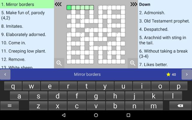 English Crossword puzzle screenshot 18