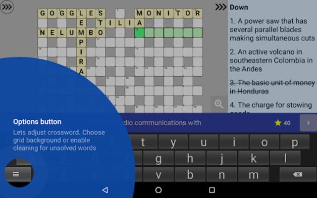 English Crossword puzzle screenshot 19