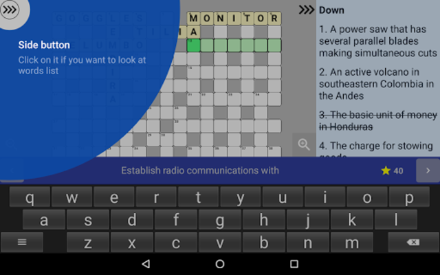 English Crossword puzzle screenshot 20