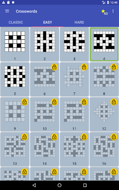 English Crossword puzzle screenshot 23