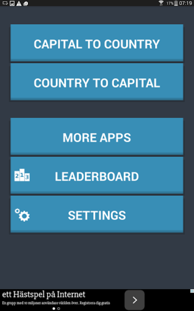 Capital Cities Quiz Game screenshot 7