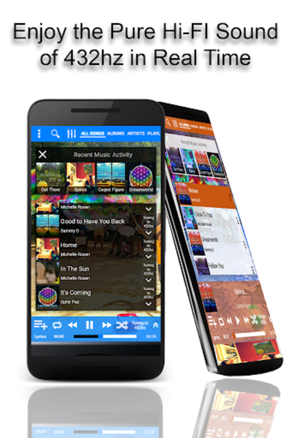432 Player - Tune Your Music and Radio into 432hz screenshot 1