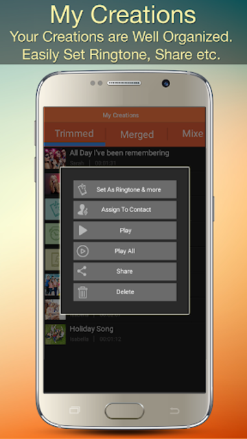 Audio MP3 Cutter Mix Converter and Ringtone Maker screenshot 7