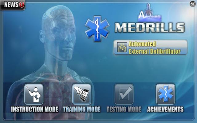 Medrills: AED screenshot 1