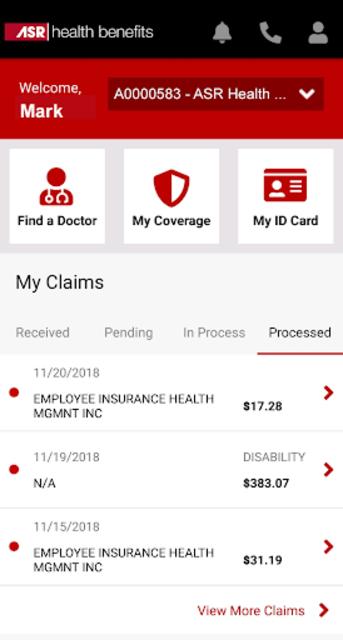 My ASR Benefits screenshot 2