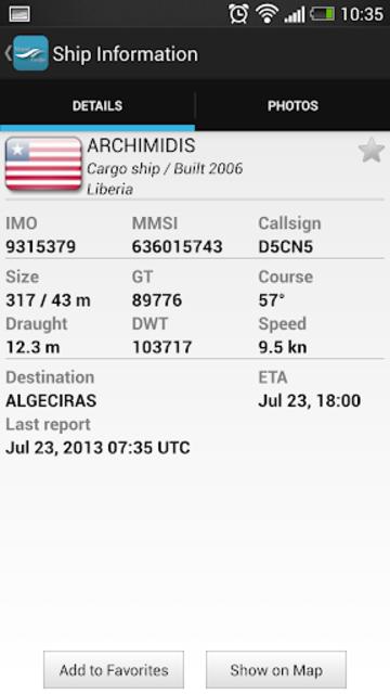 VesselFinder Pro screenshot 5