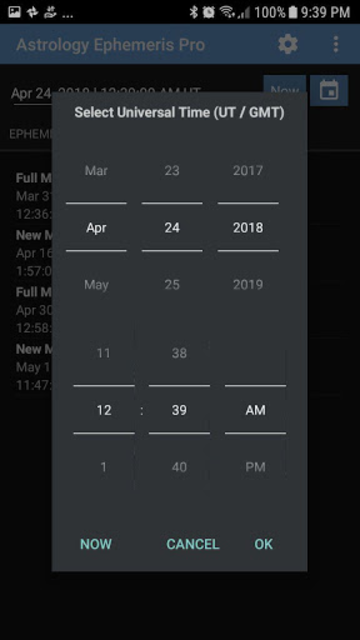 Astrology Ephemeris Pro screenshot 4