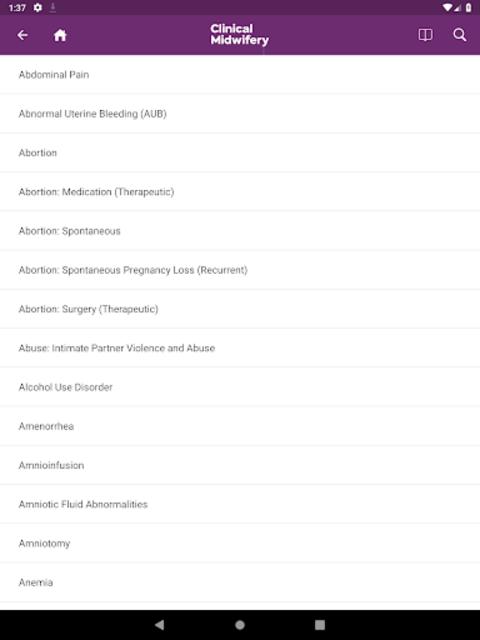 Guide to Clinical Midwifery screenshot 6
