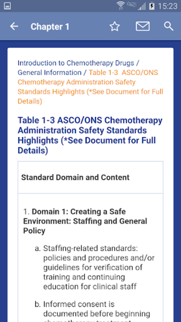 Oncology Nursing Drug Handbook screenshot 2