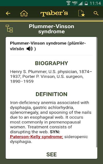 Taber's Cyclopedic Medical Dictionary 23rd Edition screenshot 8