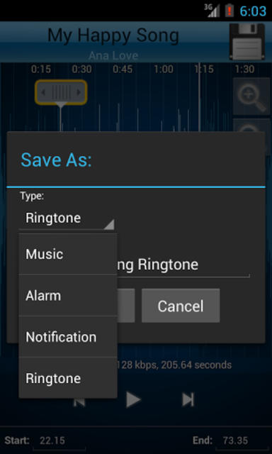 MP3 Cutter and Ringtone Maker♫ screenshot 3