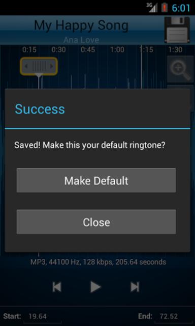 MP3 Cutter and Ringtone Maker♫ screenshot 4