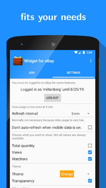 Widget for eBay screenshot 3