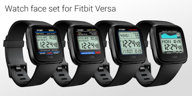 Classic Digital Faces - Watchface for Fitbit Versa screenshot 1