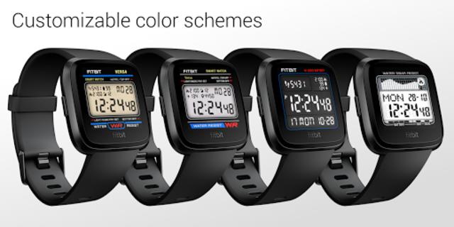 Classic Digital Faces - Watchface for Fitbit Versa screenshot 2