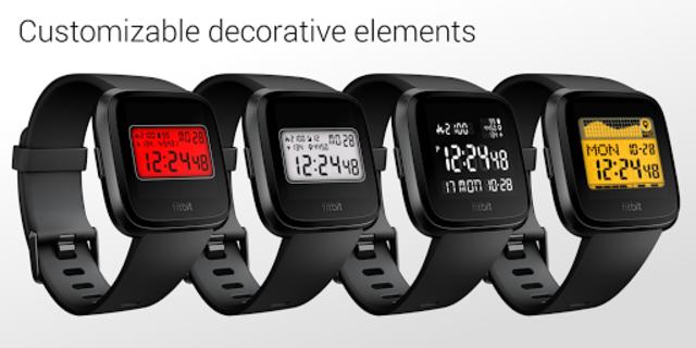 Classic Digital Faces - Watchface for Fitbit Versa screenshot 3