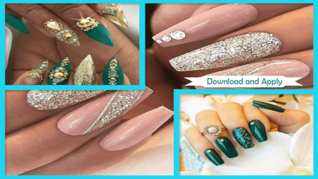 Gorgeous Glittery Nail Gems screenshot 3