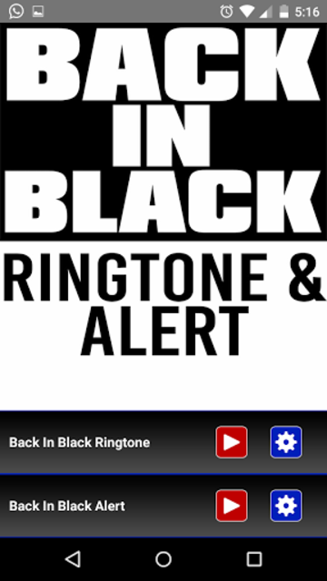 Back in Black Ringtone & Alert screenshot 1