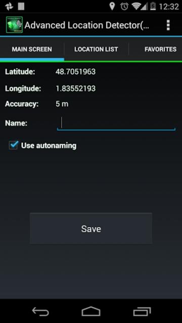 AdvancedLocationDetector (GPS) screenshot 1