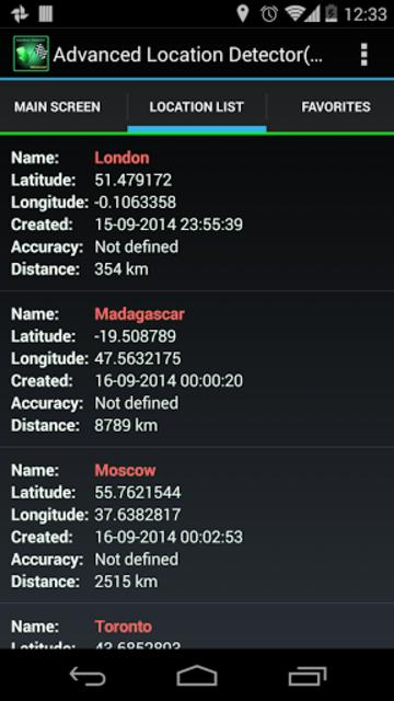 AdvancedLocationDetector (GPS) screenshot 9