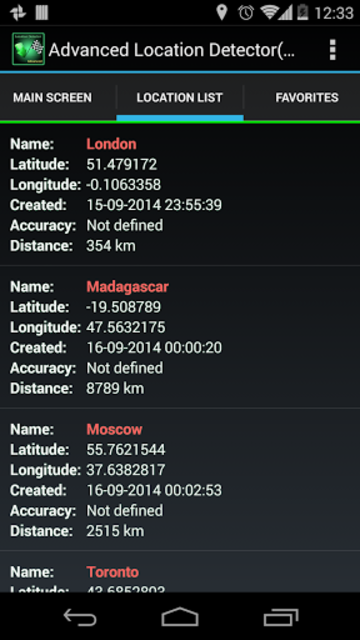 AdvancedLocationDetector (GPS) screenshot 15