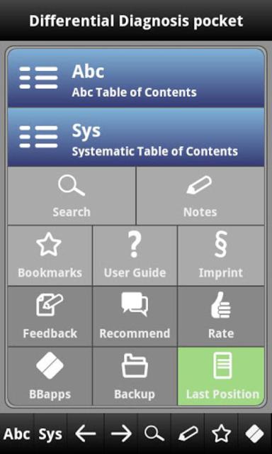 Differential Diagnosis pocket screenshot 1