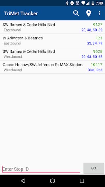 TriMet Tracker screenshot 1